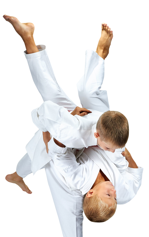 kids doing a judo throw